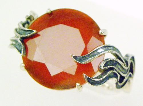 Big & Bold Vintage Carnelian Sterling Ring
