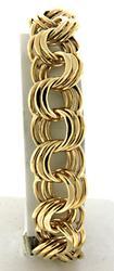 Triple Circle Link Heavy Gauge Bracelet, 55.9 grams