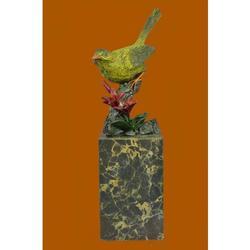Multi Color Patina Love Bird Bronze Sculpture