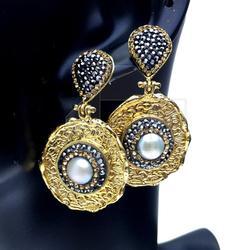 Fabulous Artisan Design Gold Plated Bijoux Necklace
