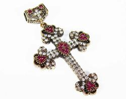 Fascinating Byzantine Design Hand Crafted 925 S. Cross