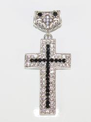 Fascinating Classical Design Rhodium Pl. 925 S. Cross
