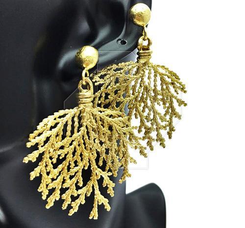 Lavish & Glamorous Artisan Design Gold Plated Earrings