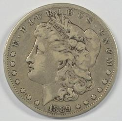 Super Rare 1889-CC Morgan Silver Dollar in VF