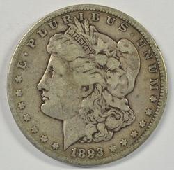 Super Rare 1893-CC Morgan Silver Dollar. Nice circ