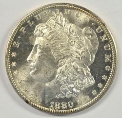 Gorgeous virtual Gem BU 1880-S Morgan Silver Dollar