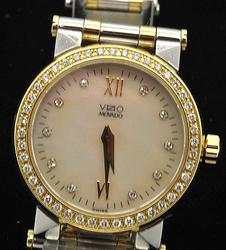 Ladies Movado Vizio Watch MOP Dial