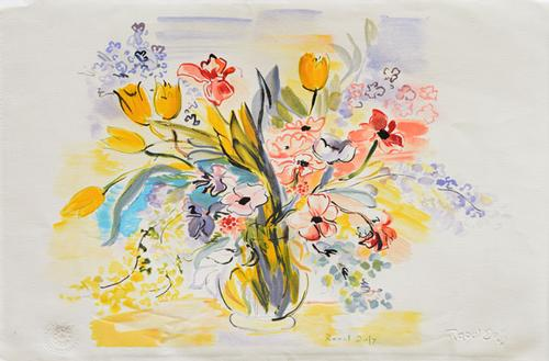 dufy bouquet des fleur dans un vase lithograph. Black Bedroom Furniture Sets. Home Design Ideas