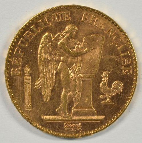 Flashy BU 1896-A France 20 Francs Gold 'Angel'