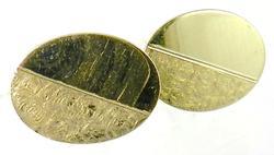 Classic 14K Gold Cuff Links