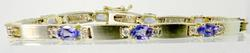 Tasteful 14kt Gold Tanzanite & Diamond Filled Bracelet