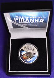 COLORIZED 2013 $2  PIRANHA, NEW ZEALAND