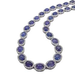 Elegant 82+ctw. Diamond and Tanzanite Necklace