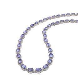 28++ctw. Tanzanite and Diamond Necklace
