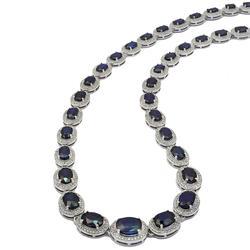 26.84ctw. Sapphire Necklace