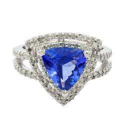 Adorable 2.24ctw. Tanzanite and Diamond Ring