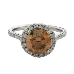 Hard to Find 2+ctw Brown & White Diamond Ring