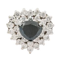 Dainty 1.58ctw. Black Diamond Ring