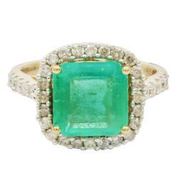Savvy 2.72ctw. Emerald & Diamond Ring
