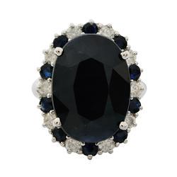 16+ctw. Sapphire & Diamond Ring