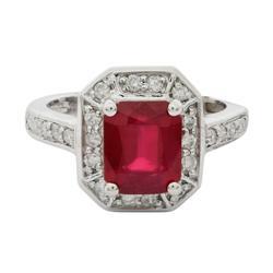 Amazing 3.13ctw. Ruby & Diamond Ring