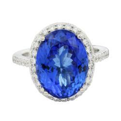 8+ctw Tanzanite and Diamond Ring