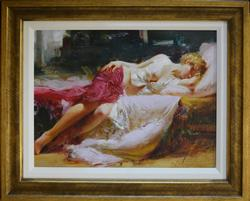 Gorgeous Pino Dreamin In Color Framed HE Giclee