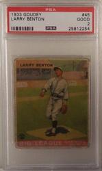 1933 Goudey # 45 Larry Benton PSA 2