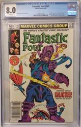 Fantastic Four # 243 June 10, 1982 Marvel CGC 8.0