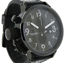 U-Boat Flightdeck Chrono, Black Ceramic w/ Display Back