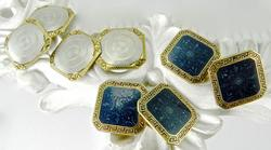 Two Pairs of Charming 14K Vintage Cufflinks