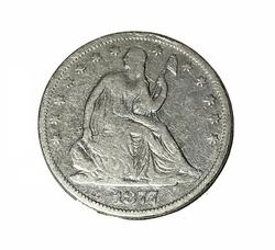 1877 CC Seated Liberty Half Dollar T- 1 Breen 101