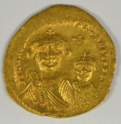 Super Byzantine Gold Solidus of Heraklios, 610-641 AD.