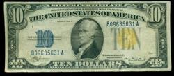 Very Nice 1934-A Series $10 North Africa Silver Cert