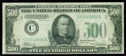 Real Nice CU 1934-A Series $500 Federal Reserve Note