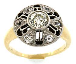 Antique European Cut Diamond Cluster Ring