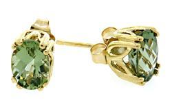 14kt Yellow Gold Peridot Stud Earrings