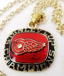 Detroit Red Wings Stanley Cup Hockey Pendant