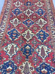 Beautiful Mid-20th C. Handmade Authentic Vintage Persian Rug