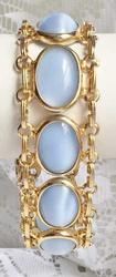 Gorgeous, Mid-Century, Blue 'Moonstone' Linked Bracelet