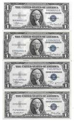 $1 Silver Certificates 1935 A( 2) B and E choice CU