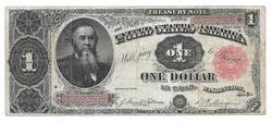 $1 Treasury Note Series 1891 With Stanton Portrait