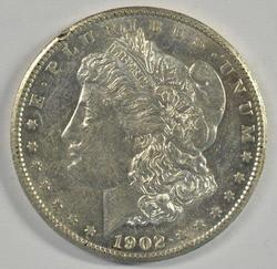 Flashy Near Mint 1902-S Morgan Silver Dollar. Key date