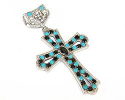 Fascinating Byzantine Style Hand Crafted 925 S. Cross