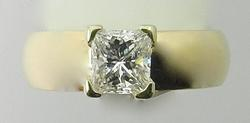 Stylish 2/3 Ct. Princess-Cut Diamond Engagement Ring