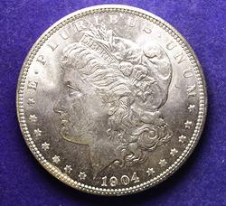 LUSTROUS GEM BU 1904-O MORGAN DOLLAR