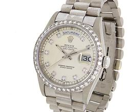 Rolex Day-Date President, White Gold w/ Diamonds