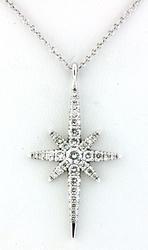 Starburst Diamond Pendant Necklace