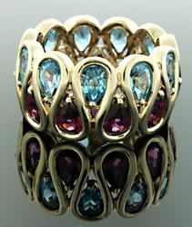 Multi Gemstone Eternity Band