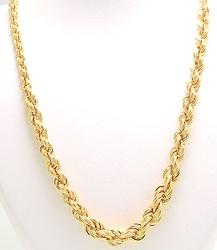 Unique Tapered 18kt Rope Chain